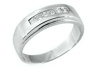 3/4 CARAT WOMENS PRINCESS SQUARE CUT DIAMOND RING WEDDING BAND WHITE GOLD