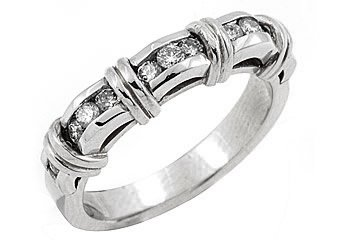 .55 CARAT WOMENS BRILLIANT ROUND CUT DIAMOND RING WEDDING BAND WHITE GOLD