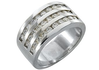 1.33 CARAT WOMENS BRILLIANT ROUND CUT DIAMOND WEDDING BAND RING WHITE GOLD