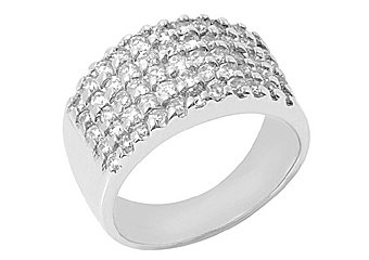 1.5 CARAT WOMENS BRILLIANT ROUND CUT PRONG DIAMOND RING WEDDING BAND WHITE GOLD