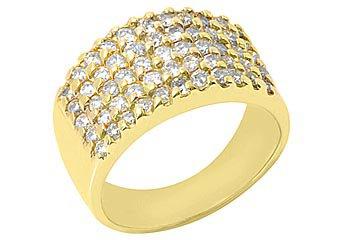 1.5 CARAT WOMENS BRILLIANT ROUND CUT PRONG DIAMOND RING WEDDING BAND YELLOW GOLD