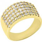 1.5 CARAT WOMENS BRILLIANT ROUND CUT PRONG DIAMOND RING WEDDING BAND YELLOW GOLD