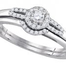 WOMENS DIAMOND ENGAGEMENT HALO RING WEDDING BAND BRIDAL SET BRILLIANT ROUND CUT