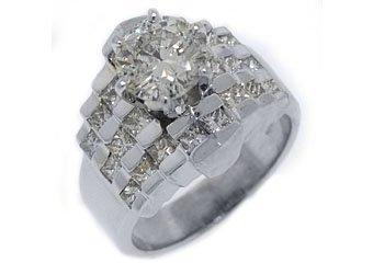 3 CARAT WOMENS DIAMOND ENGAGEMENT WEDDING RING ROUND PRINCESS CUT WHITE GOLD