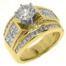 4 CARAT ROUND DIAMOND ANNIVERSARY ENGAGEMENT RING 18KT
