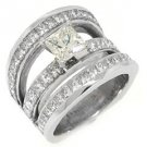 6 CARAT WOMENS DIAMOND ENGAGEMENT WEDDING RING PRINCESS SQUARE CUT WHITE GOLD