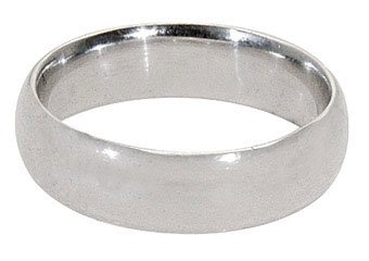 MENS 950 PLATINUM WEDDING BAND ENGAGEMENT RING COMFORT FIT SIZE 7 7.5 6mm