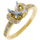 .69 CARAT WOMENS DIAMOND ENGAGEMENT RING SEMI-MOUNT ROUND CUT YELLOW GOLD