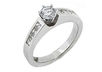 1.2 CARAT WOMENS DIAMOND ENGAGEMENT WEDDING RING ROUND PRINCESS CUT WHITE GOLD