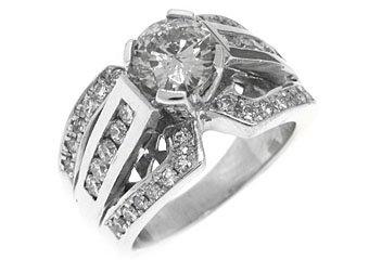 2.3 CARAT WOMENS DIAMOND ENGAGEMENT WEDDING RING BRILLIANT ROUND CUT WHITE GOLD