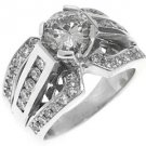 2.3 CARAT WOMENS DIAMOND ENGAGEMENT WEDDING RING BRILLIANT ROUND CUT WHITE GOLD