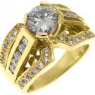 2.3 CARAT WOMENS DIAMOND ENGAGEMENT WEDDING RING BRILLIANT ROUND CUT YELLOW GOLD