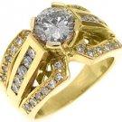 2.3 CARAT WOMENS DIAMOND ENGAGEMENT WEDDING RING BRILLIANT ROUND CUT YELLOW GOLD