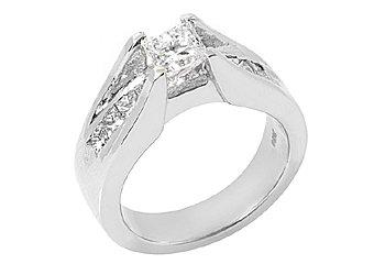 1.7 CARAT WOMENS DIAMOND ENGAGEMENT WEDDING RING PRINCESS SQUARE CUT WHITE GOLD