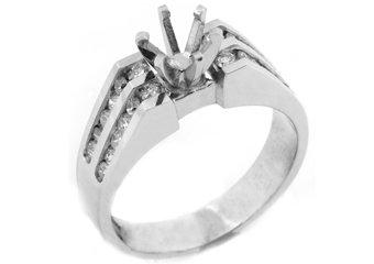 .55 CARAT WOMENS DIAMOND ENGAGEMENT RING SEMI-MOUNT ROUND CUT WHITE GOLD
