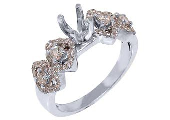 .73 CARAT WOMENS DIAMOND ENGAGEMENT RING SEMI-MOUNT ROUND CUT WHITE GOLD