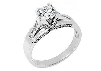 1.25CT WOMENS DIAMOND ENGAGEMENT WEDDING RING BRILLIANT ROUND CUT WHITE GOLD
