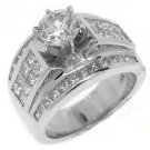 4 CARAT WOMENS DIAMOND ENGAGEMENT WEDDING RING ROUND PRINCESS CUT WHITE GOLD