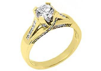 1.25CT WOMENS DIAMOND ENGAGEMENT WEDDING RING BRILLIANT ROUND CUT YELLOW GOLD