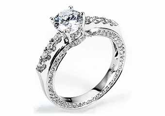 WOMENS DIAMOND ENGAGEMENT RING ROUND CUT 1.95 CARAT 18K WHITE GOLD