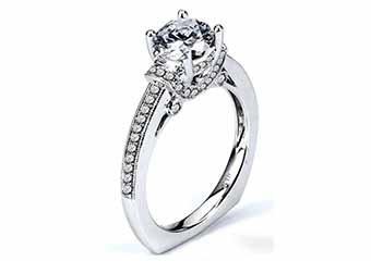 WOMENS DIAMOND ENGAGEMENT RING ROUND CUT 1.40 CARAT 18K WHITE GOLD