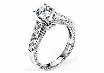 WOMENS DIAMOND ENGAGEMENT RING ROUND CUT 1.93 CARAT 18K WHITE GOLD