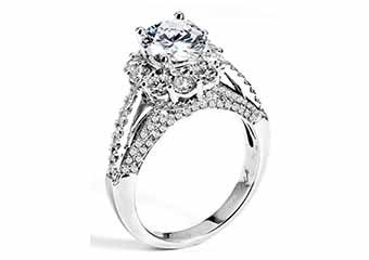 WOMENS DIAMOND ENGAGEMENT HALO RING ROUND CUT 2.47 CARAT 18K WHITE GOLD