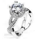 WOMENS DIAMOND ENGAGEMENT RING ROUND CUT 1.70 CARAT 18K WHITE GOLD