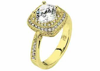 WOMENS DIAMOND ENGAGEMENT HALO RING ROUND CUT 1.56 CARAT 18K YELLOW GOLD