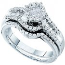 WOMENS DIAMOND ENGAGEMENT RING WEDDING BAND BRIDAL SET ROUND CUT .73 CARAT