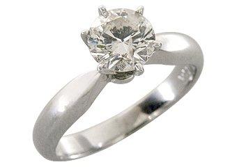 1.25CT SOLITAIRE BRILLIANT ROUND CUT DIAMOND ENGAGEMENT RING 14k WHITE GOLD