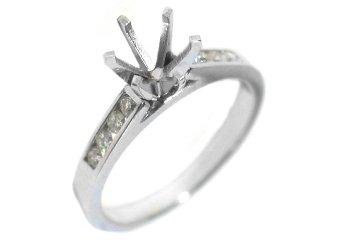1/4 CARAT WOMENS DIAMOND ENGAGEMENT RING SEMI-MOUNT ROUND CUT WHITE GOLD