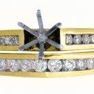 .55 CARAT WOMENS DIAMOND ENGAGEMENT RING SEMI-MOUNT SET ROUND CUT YELLOW GOLD