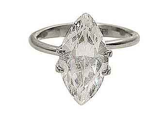 2 CARAT WOMENS SOLITAIRE MARQUISE CUT DIAMOND ENGAGEMENT RING WHITE GOLD