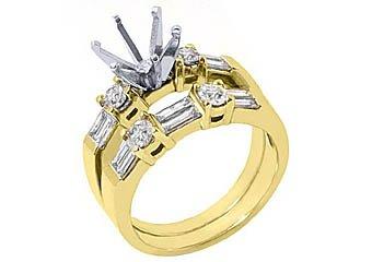 1.26 CARAT WOMENS DIAMOND ENGAGEMENT RING SEMI-MOUNT SET ROUND CUT YELLOW GOLD
