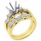 1.26 CARAT WOMENS DIAMOND ENGAGEMENT RING SEMI-MOUNT SET ROUND CUT YELLOW GOLD