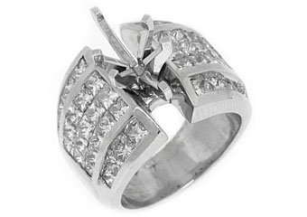 4 CARAT WOMENS DIAMOND ENGAGEMENT RING SEMI-MOUNT MARQUISE CUT WHITE GOLD