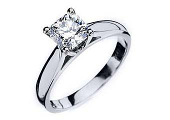 1 CARAT WOMENS SOLITAIRE RADIANT CUT DIAMOND ENGAGEMENT RING WHITE GOLD