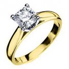 1 CARAT WOMENS SOLITAIRE RADIANT SHAPE CUT DIAMOND ENGAGEMENT RING YELLOW GOLD