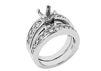 1.12 CARAT WOMENS DIAMOND ENGAGEMENT RING SEMI-MOUNT SET ROUND CUT WHITE GOLD
