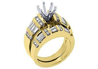 2.2 CARAT WOMENS DIAMOND ENGAGEMENT RING SEMI-MOUNT SET ROUND CUT YELLOW GOLD