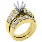 2.2 CARAT WOMENS DIAMOND ENGAGEMENT RING SEMI-MOUNT SET ROUND CUT YELLOW GOLD