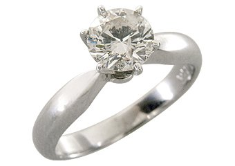 1 CARAT SOLITAIRE BRILLIANT ROUND CUT DIAMOND ENGAGEMENT RING WHITE GOLD J/K