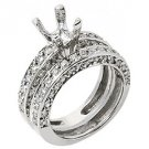 1.81 CARAT WOMENS DIAMOND ENGAGEMENT RING SEMI-MOUNT SET ROUND CUT WHITE GOLD