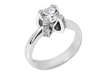 1.1 CARAT WOMENS SOLITAIRE BRILLIANT ROUND DIAMOND ENGAGEMENT RING WHITE GOLD
