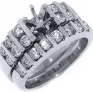 1.42 CARAT WOMENS DIAMOND ENGAGEMENT RING SEMI-MOUNT SET ROUND CUT WHITE GOLD