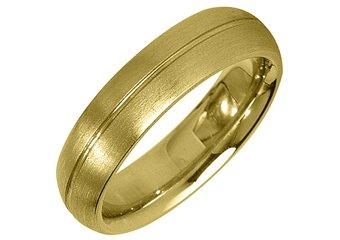 MENS WEDDING BAND ENGAGEMENT RING YELLOW GOLD SATIN FINISH 5mm