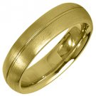 MENS WEDDING BAND ENGAGEMENT RING YELLOW GOLD SATIN FINISH 5mm