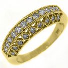 .68 CARAT WOMENS ANTIQUE ROUND CUT DIAMOND RING WEDDING BAND 14K YELLOW GOLD