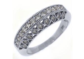 .68 CARAT WOMENS ANTIQUE ROUND CUT DIAMOND RING WEDDING BAND 14K WHITE GOLD